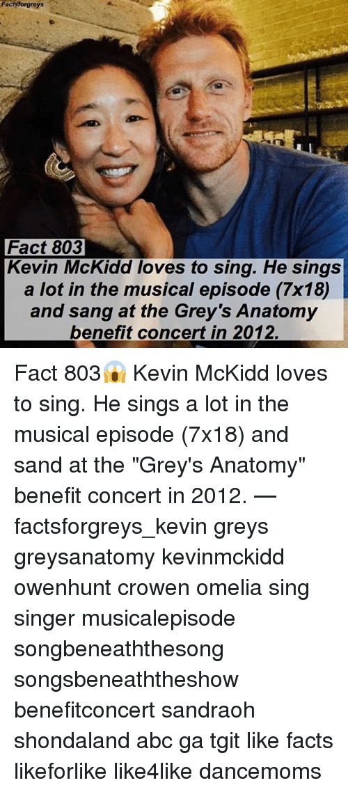 Facts Forgreys Fact 803 Kevin McKidd Loves to Sing He Sings a Lot in ...