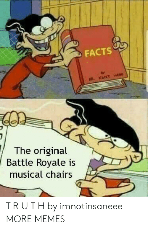 Dank, Facts, and Memes: FACTS  The original  Batle Royale iS  musical chairs T R U T H by imnotinsaneee MORE MEMES