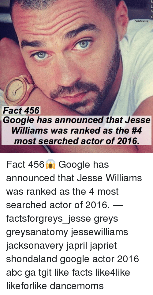 factsforgreys fact 456 google has announced that jesse williams was 9969204 ✅ 25 best memes about jesse williams jesse williams memes,Jesse Williams Memes