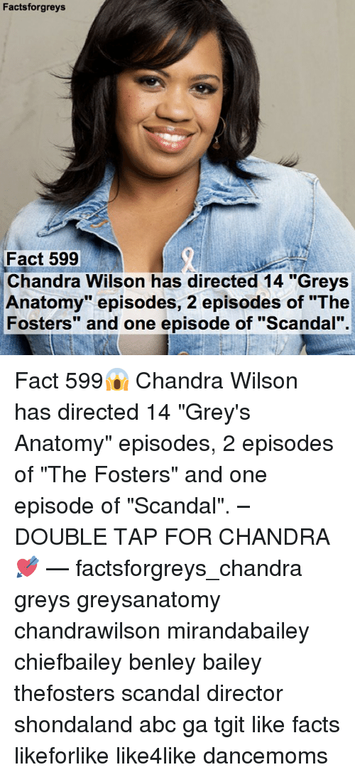 Factsforgreys Fact 599 Chandra Wilson Has Directed 14 Greys Anatomy ...