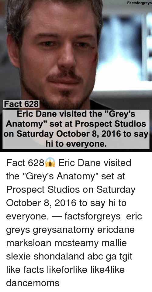 Factsforgreys Fact 628 Eric Dane Visited the Grey\'s Anatomy Set at ...