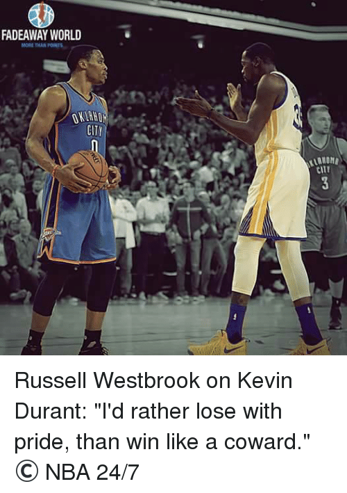 f1b99ffd6fe FADEAWAY WORLD MORE THAN CITY CITT Russell Westbrook on Kevin Durant ...