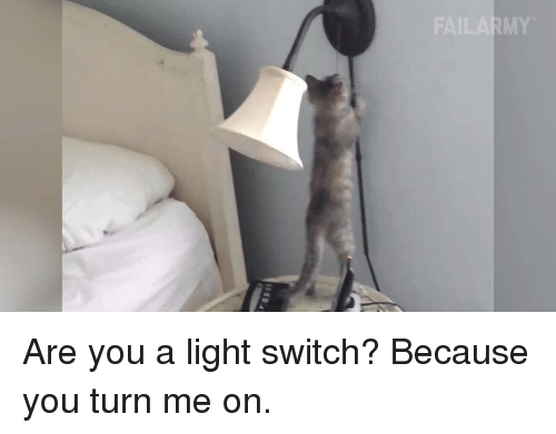 Memes, 🤖, and Switch: FAILARMY Are you a light switch? Because you turn me on.