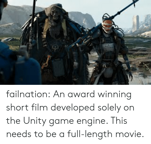 Failnation an Award Winning Short Film Developed Solely on the Unity