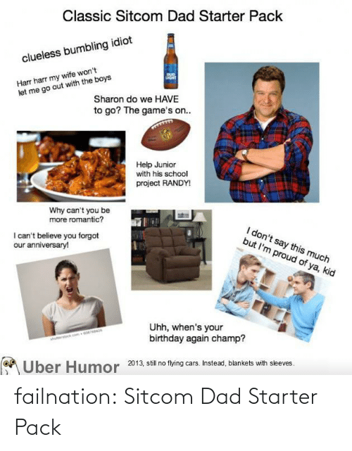 Dad, Tumblr, and Blog: failnation:  Sitcom Dad Starter Pack