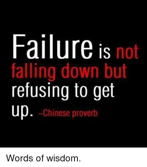failure is not falling down but refusing to get up 8311441 failure is not falling down but refusing to get up chinese proverb