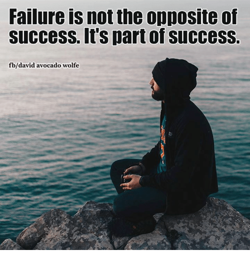 Inspirational Quotes About Failure: Failure IS Not The Opposite Of Success It's Part Of