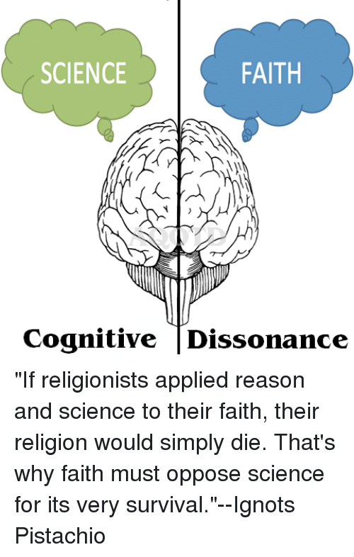 Faith Science Cognitive Dissonance If Religionists Applied Reason