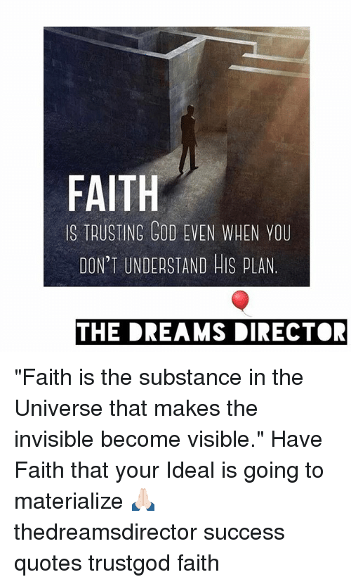 Faith Trusting God Even When You Dont Understand His Plan The