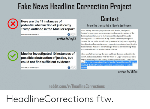 Fake News Headline Correction Project Context From the