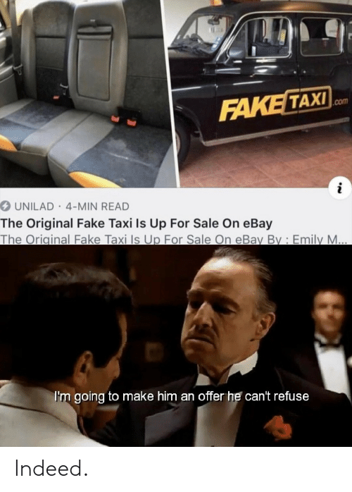FAKE TAXI UNILAD 4-Min READ the Original Fake Taxi Is Up for Sale on