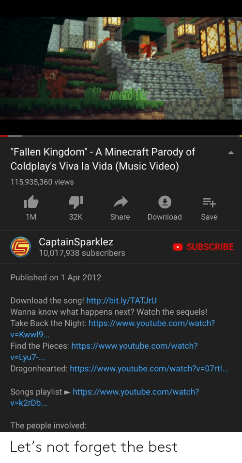 Fallen Kingdom - A Minecraft Parody of Coldplay's Viva La