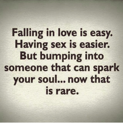 Falling in love and having sex
