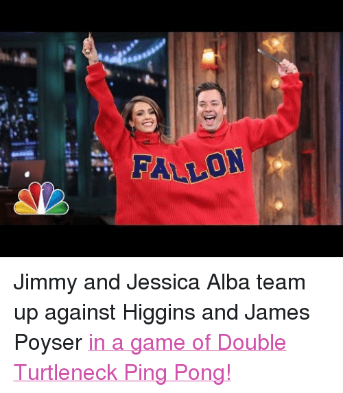 Fallon Pjimmy And Jessica Alba Team Up Against Higgins And James