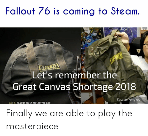 Fallout 76 Is Coming to Steam WEST TEk Let's Remember the