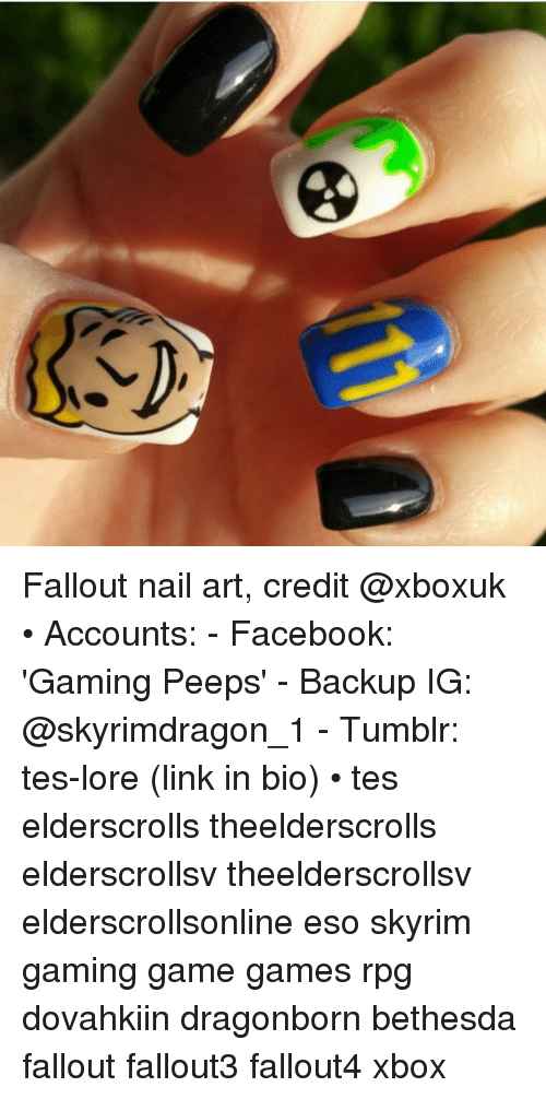 Fallout Nail Art Credit Accounts Facebook Gaming Peeps