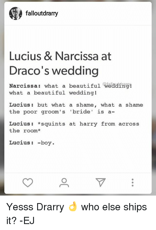 Memes Wedding And Falloutdrarry Lucius Narcissa At Draco S What