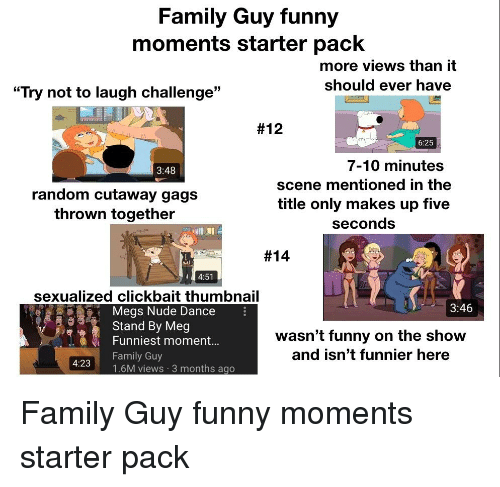 Image of: Funniest Moments Family Family Guy And Funny Family Guy Funny Moments Starter Pack More Views Funny Family Guy Funny Moments Starter Pack More Views Than It Should Ever