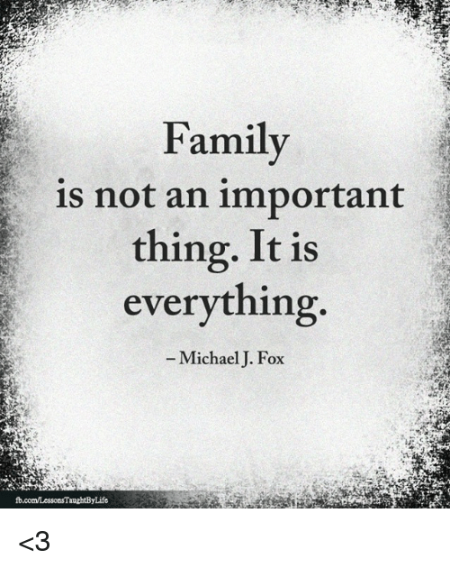 Family Is Not An Important Thing It Is Everything Michael J Fox 3 Family Meme On Me Me