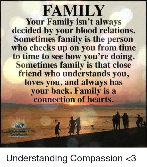 Family Your Family Isnt Always Decided By Your Blood Relations