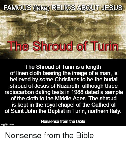 shroud of jesus carbon dating The questions what is the shroud of turin why don't you believe it's the burial cloth of jesus christ how was the shroud image formed what about the alleged carbon dating flaws and conspiracies.