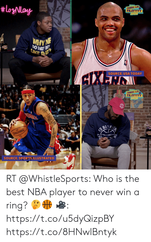 Nba, Best, and Today: FAMOUS LOS  FiLAYYYY  SOURCE: USA TODAY   FAMOUS LOS  FiLAYYYY  SPALD  SOURCE: SPORTSILLUSTRATED RT @WhistleSports: Who is the best NBA player to never win a ring? 🤔🏀  🎥: https://t.co/u5dyQizpBY https://t.co/8HNwlBntyk