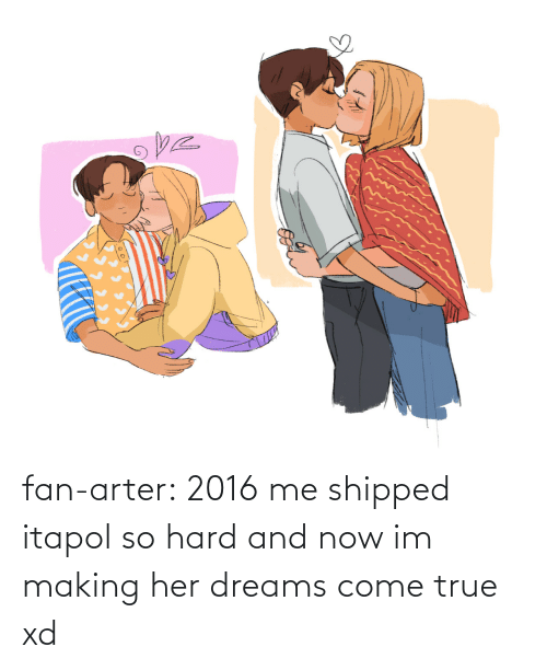 Target, True, and Tumblr: fan-arter:  2016 me shipped itapol so hard and now im making her dreams come true xd