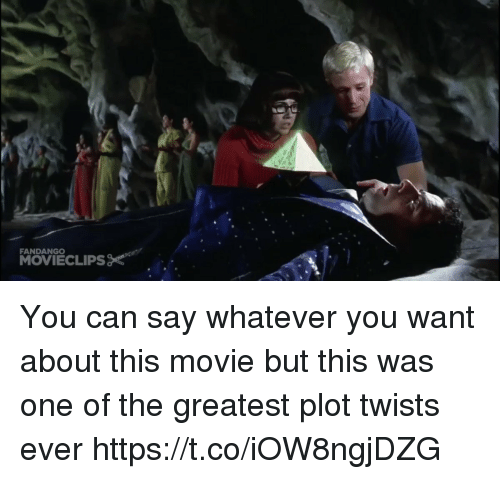 Funny, Fandango, and Movie: FANDANGO You can say whatever you want about this movie but this was one of the greatest plot twists ever https://t.co/iOW8ngjDZG