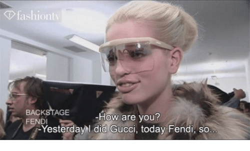 63f74a4f0b6b Fashiontv BACKSTAGE How Are You  Yesterday Did Gucci Today Fendi So ...