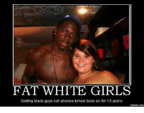 Fat Black Girl And White Guy