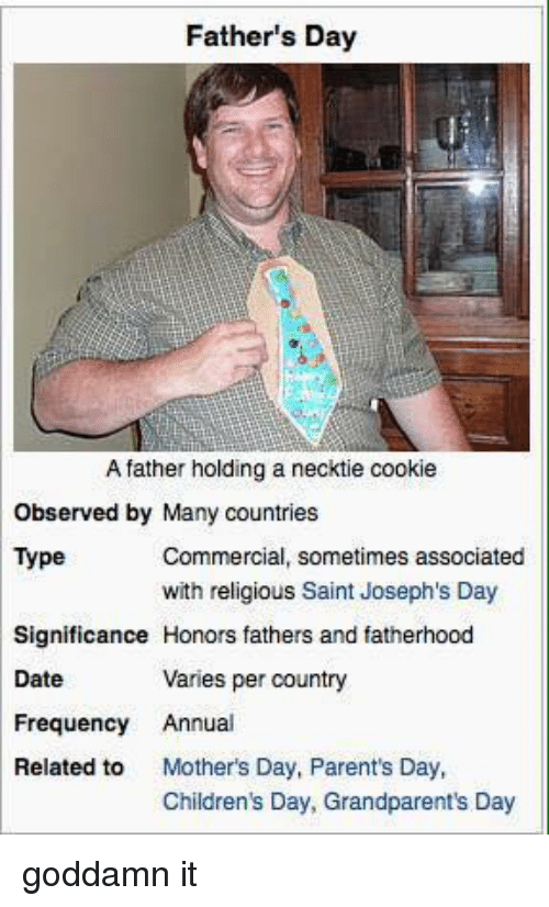 fathers day a father holding a necktie cookie observed by 3489911 ✅ 25 best memes about happy fathers day meme happy fathers day