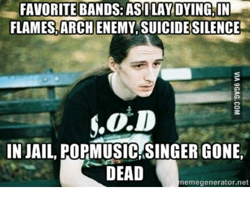 favorite bands asi lay dying in flames archenemy suicide silence 14338862 ✅ 25 best memes about suicide silence suicide silence memes,Silence Memes