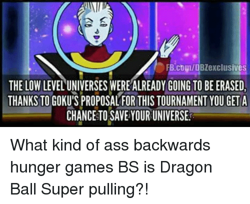 FBcomDBZexclusives THE LOWLEVEL UNIVERSES WEREALREADY GOING TO BE