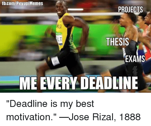 thesis deadline All graduate students should familiarize themselves with the graduate college deadlines below,  if you are defending a thesis, dissertation, .
