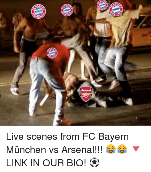 Arsenal, Memes, and Live: FC  BAV  CHE  hjC Live scenes from FC Bayern München vs Arsenal!!! 😂😂 🔻LINK IN OUR BIO! ⚽️
