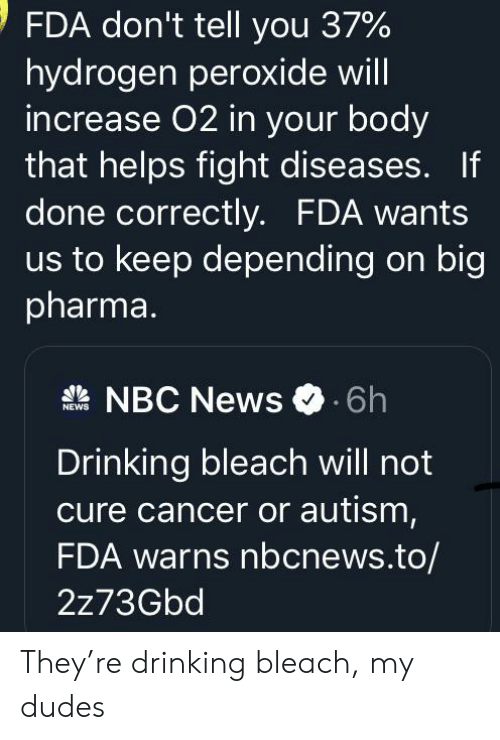 FDA Don't Tell You 37 % Hydrogen Peroxide Will Increase 02