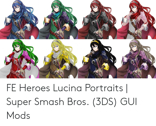 FE Heroes Lucina Portraits | Super Smash Bros 3DS GUI Mods