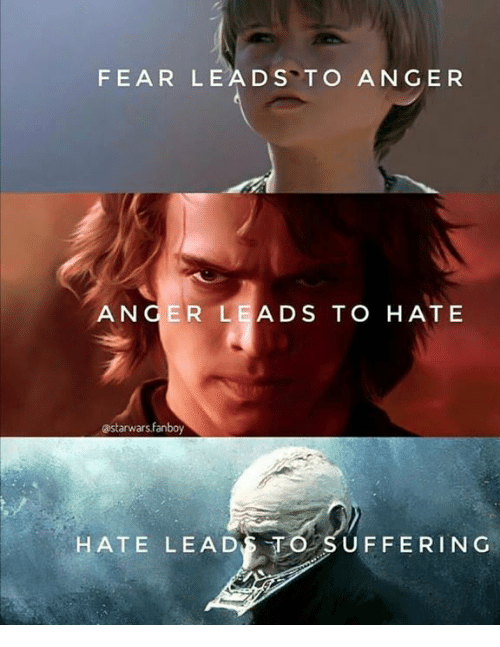 fear leads to anger an ger lead s to hate 8411029 ✅ 25 best memes about fear leads to anger fear leads to anger,Fear Leads To Anger Meme