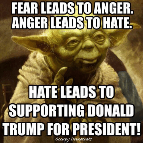 fear leads to anger anger leads to hate hate leads 8722346 ✅ 25 best memes about fear leads to anger anger leads to hate,Fear Leads To Anger Meme