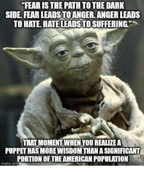 fearis the path to the dark side fear leads to 5022654 ✅ 25 best memes about fear leads to anger fear leads to anger,Fear Leads To Anger Meme