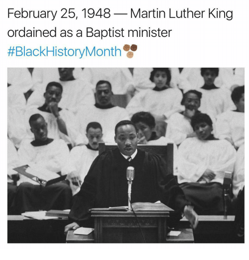 February 25 1948 Martin Luther King Ordained As A Baptist Minister