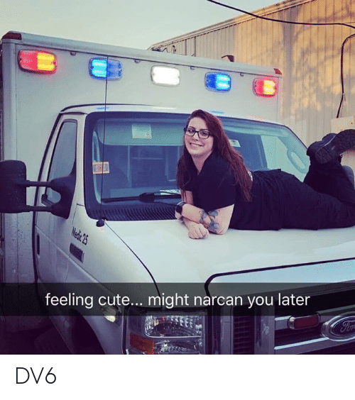 Cute, Memes, and 🤖: feeling cute... might narcan you later DV6