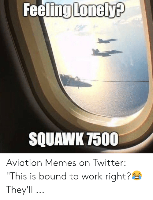Feeling Lonely SQUAWK 7500 Aviation Memes on Twitter This Is Bound