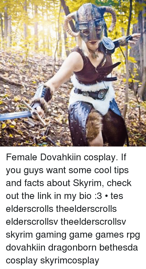 Female Dovahkiin Cosplay If You Guys Want Some Cool Tips And Facts