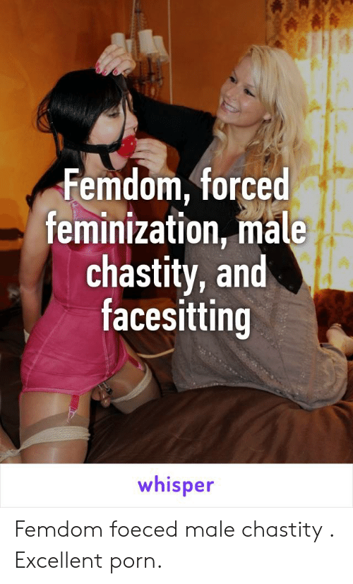 Porn, Chastity, and Whisper: Femdom, forced feminization, male chastity, and