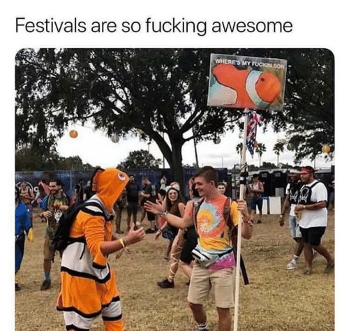 Fucking, Awesome, and Son: Festivals are so fucking awesome  WHERE'S MY FUCKIN SON