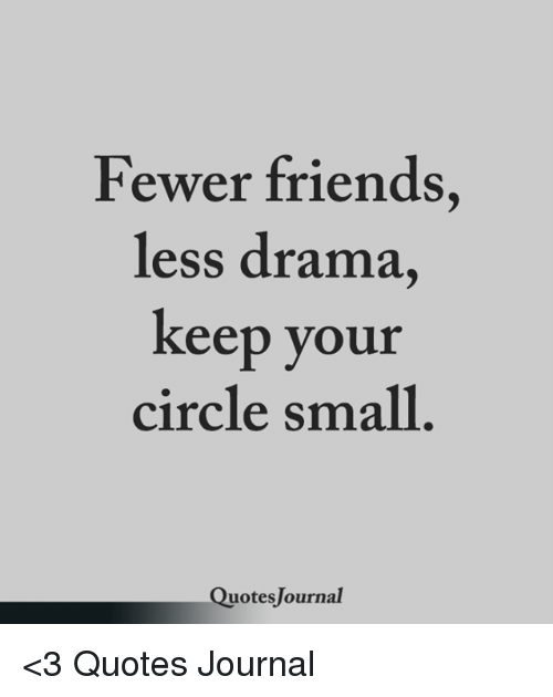 Fewer Friends Less Drama Keep Your Circle Small Uotes Lournal 3