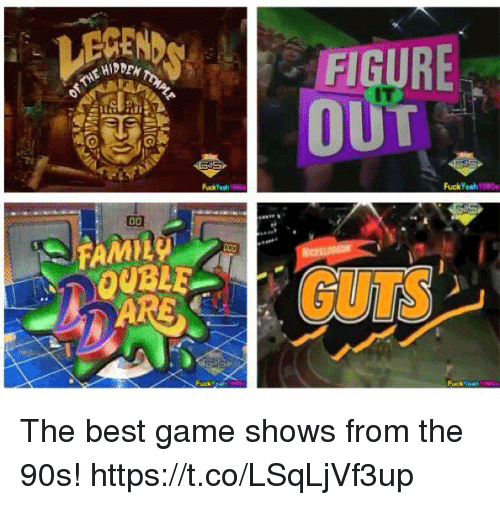 Memes, Best, and Game: FI  HIDDEN  IT  OUBLE The best game shows from the 90s! https://t.co/LSqLjVf3up