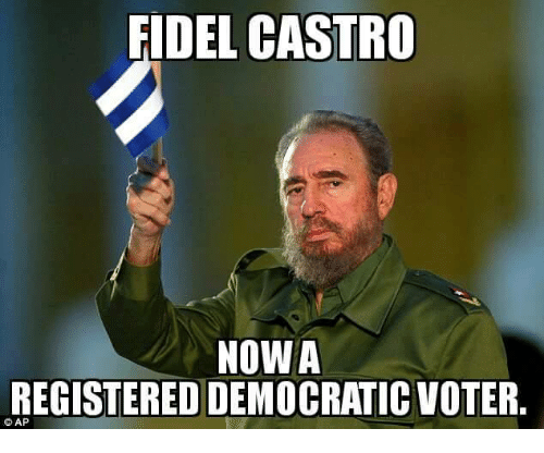fidel castro nowa registered democratic voter ap 7553967 ✅ 25 best memes about assassination assassination memes