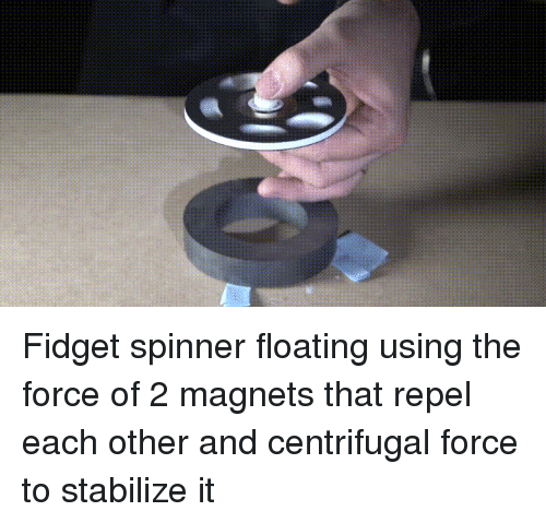 Fid Spinner Floating Using the Force of 2 Magnets That Repel Each